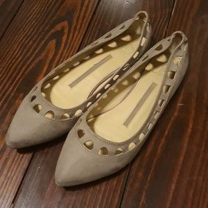 Taupe cut out flats